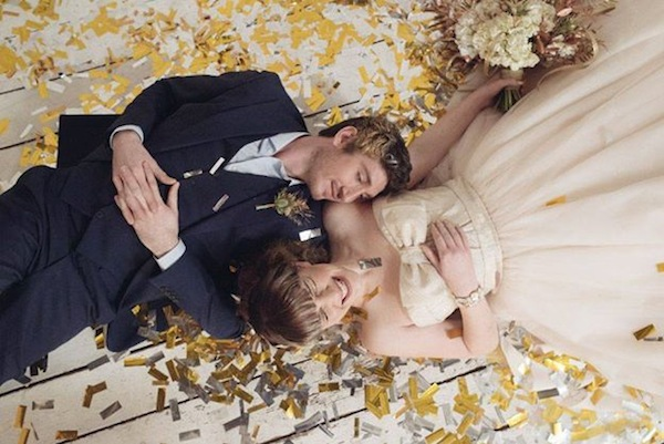 mixed metallic wedding inspiration