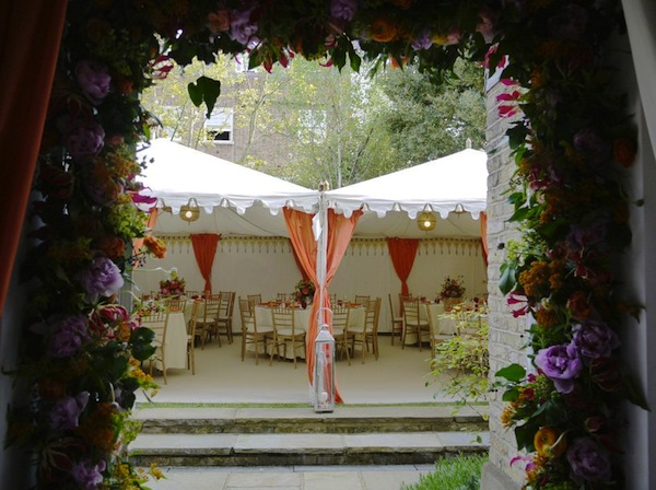 advice for planning a unique marquee wedding