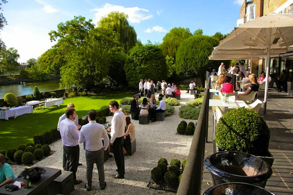 london wedding venue with garden
