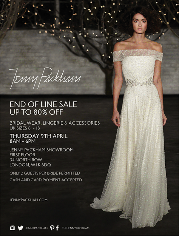 jenny packham bridal sample sale london