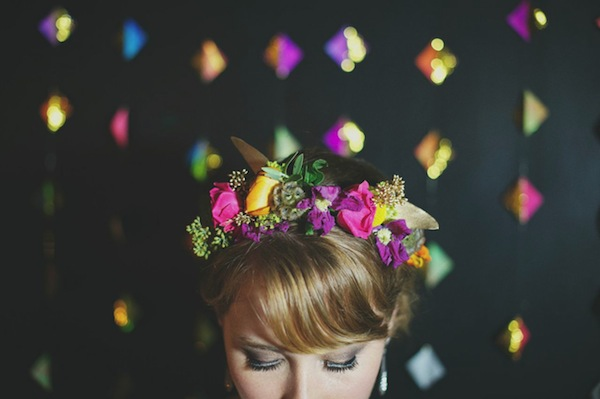 unusual wedding flower ideas crowns