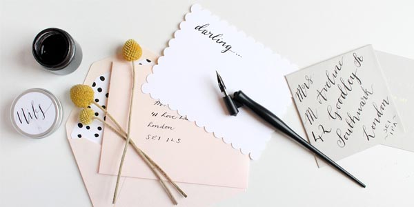 adding flourish to your wedding stationery
