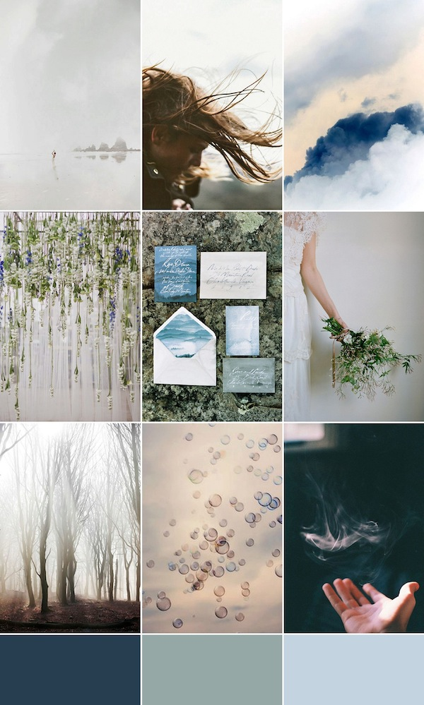 moody blue wedding inspiration bloved blog