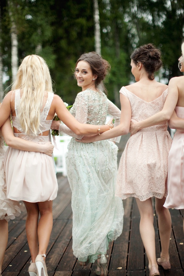 stylish blush bridesmaid style