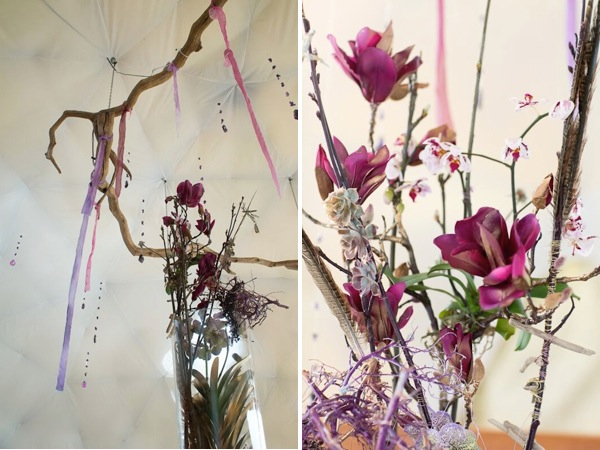 purple crystal wedding inspiration