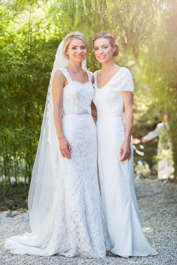 ivory bridesmaid dress