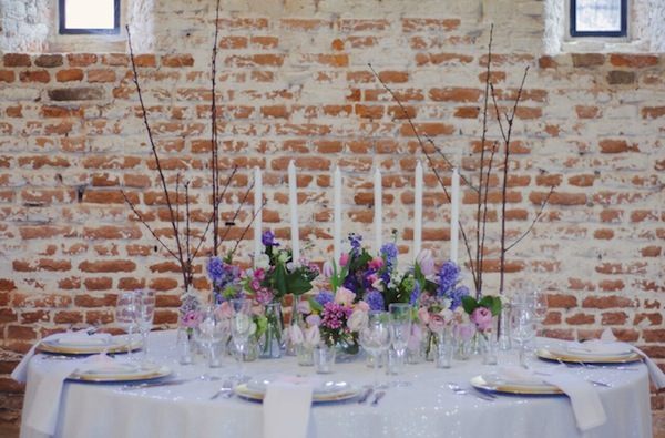 white sequin wedding table