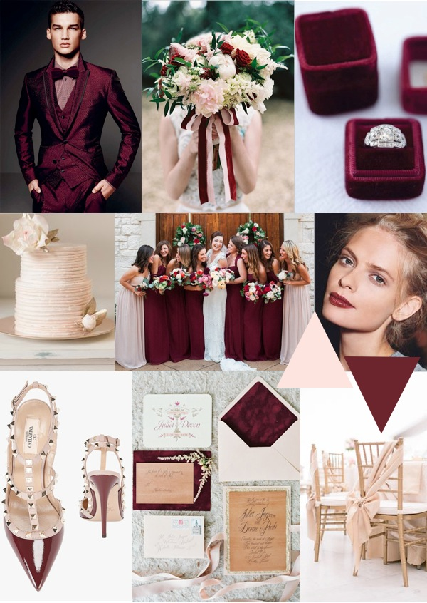 burgundy and blush wedding inspiration
