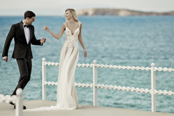 illusion wedding dress luxury