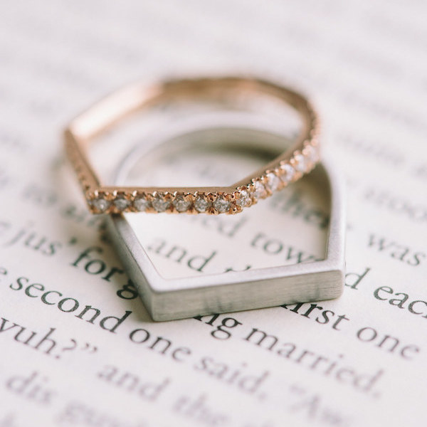 geometric wedding rings