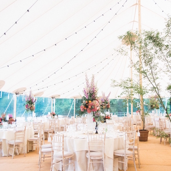 stylish sperry tent wedding