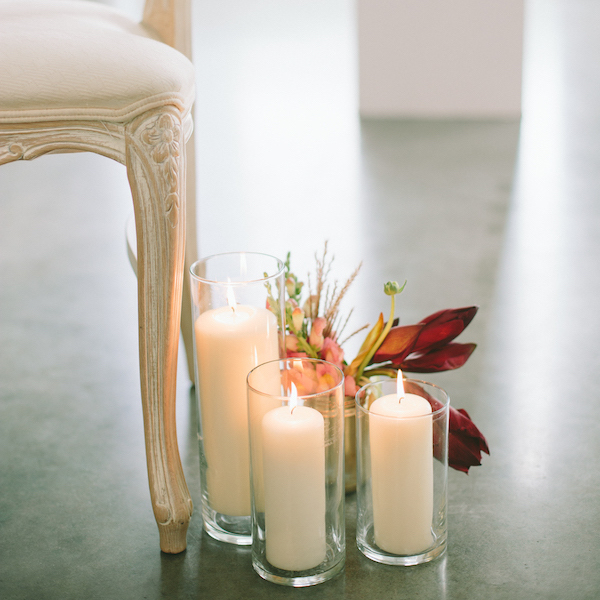 candles industrial wedding inspiration