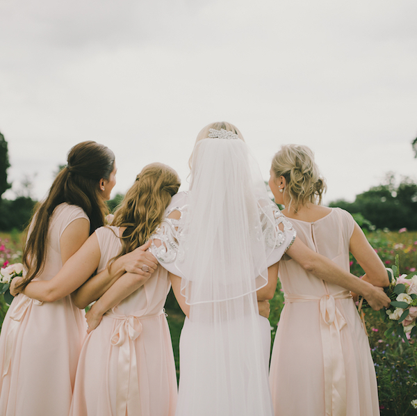 blush pink bridesmaid style