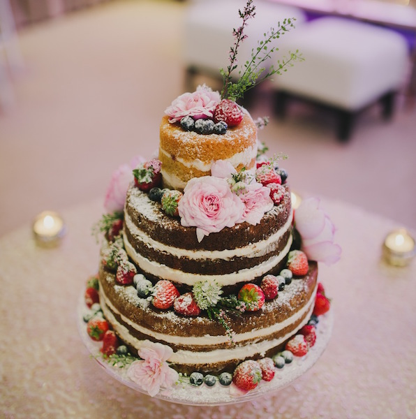 french made london naked wedding cake