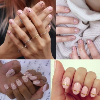 winter nail trends 2016 gold lines