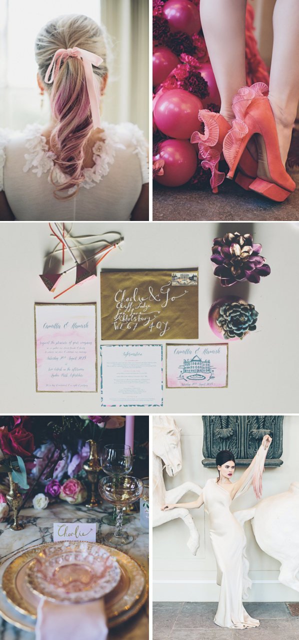 pink wedding style inspiration