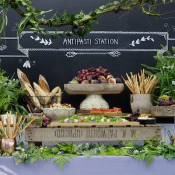 wedding food stations antipasti