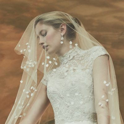 phillipa lepley veil, luxury wedding dress designer, couture wedding dress