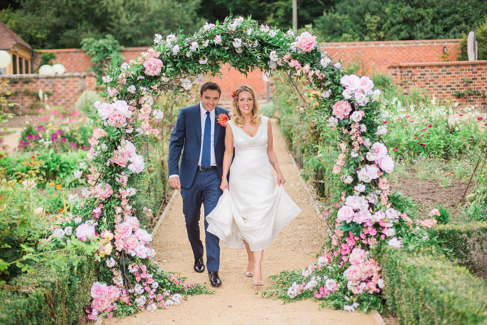 floral arch wedding inspiration