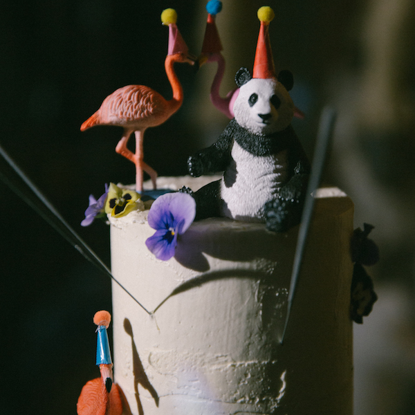 animal party wedding cake
