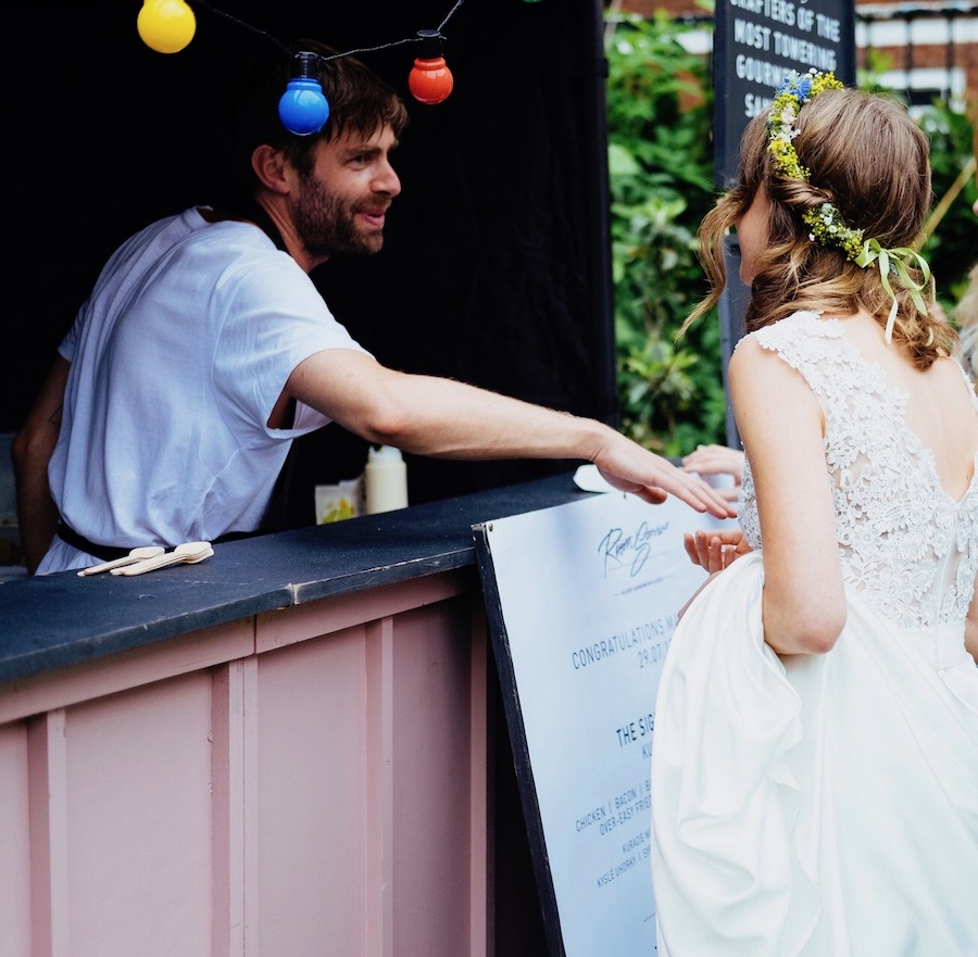 food truck wedding guide, london street food wedding, street food wedding