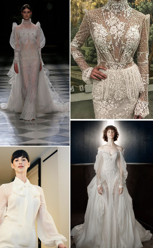 statement sleeves wedding dress